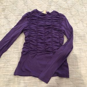 H&M rouged purple long sleeve top